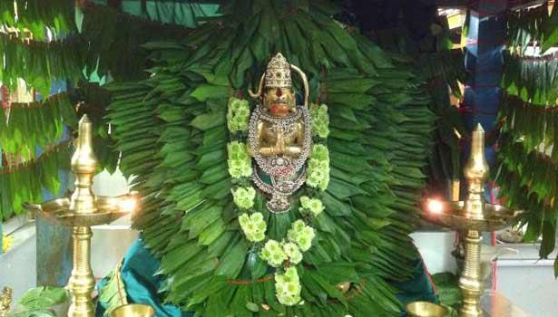 Betel Leaf garland to Lord Hanuman